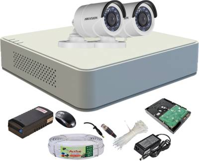 Hikvision-DS-7104HGHI-F1-Mini-4CH-Dvr,-2(DS-2CE16COT-IR)-Bullet-Cameras-(With-Mouse,-1TB-HDD,-Bnc&Dc-Connectors,Power-Supply,Cable)