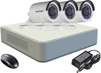 Hikvision-DS-7104HGHI-E1-4-Channel-DVR-3-(DS-2CE16COT-IR)-Bullet-Camera-(With-Adapter-&-Mouse)