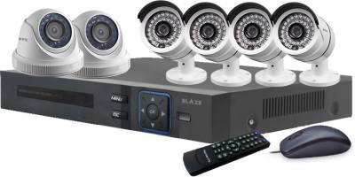Blaze-BGD2B4-HD-8-Channel-Dvr-(With-2-Dome-&-4-Bullet-Camera,-Remote,-Mouse)
