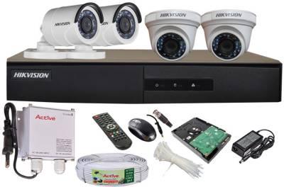 Hikvision-DS-7204HGHI-E1-4-Channel-Dvr-,-2(DS-2CE56COT-IR)-Dome,2(DS-2CE16COT-IR)-Bullet-Cameras