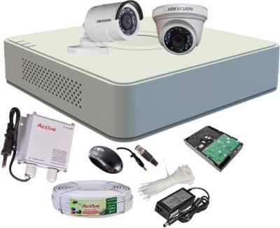 Hikvision-DS-7104HGHI-F1-Mini-4CH-Dvr,-1(DS-2CE56C2T-IR)-Dome-,1(DS-2CE16C2T-IRB)-Bullet-Camera-(With-Mouse,-1TB-HDD,-Bnc&Dc-Connectors,Power-Supply,Cable)