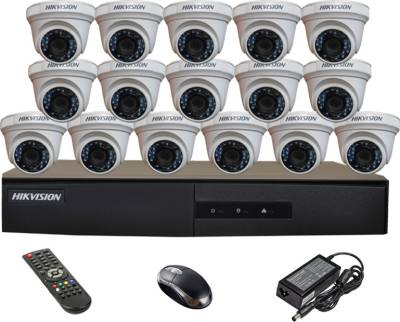 Hikvision-DS-7216HGHI-E1-16CH-Dvr,-16(DS-2CE56COT-IR)-Dome-Cameras-(With-Mouse,-Remote)