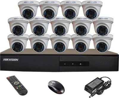 Hikvision-DS-7216HGHI-E1-16CH-Dvr,-14(DS-2CE56COT-IRP)-Dome-Cameras-(With-Mouse,-Remote)