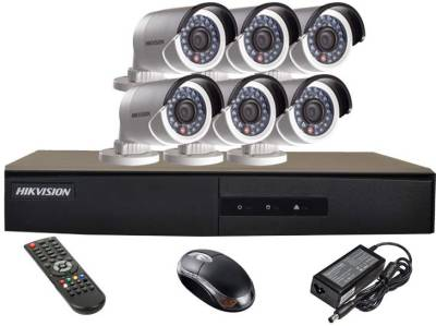 Hikvision-DS-7208HGHI-E1-8CH-Dvr-,-6(DS-2CE16COT-IR)-Bullet-Cameras-(with-Mouse,Remote)