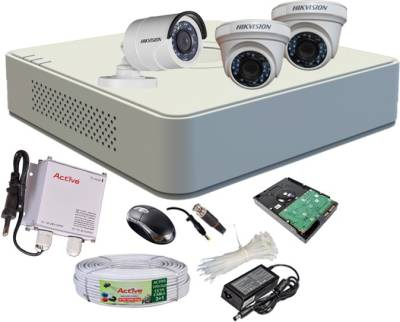 Hikvision-DS-7104HGHI-F1-Mini-4CH-Dvr,-2(DS-2CE56COT-IRP)-Dome,-1(DS-2CE16COT-IRP)-Bullet-Camera-(With-Mouse,-500GB-HDD,-Bnc&Dc-Connectors,Power-Supply,Cable)
