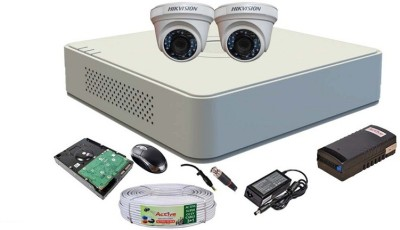 Hikvision-DS-7104HGHI-F1-Mini-4CH-Dvr,-2(DS-2CE56COT-IRP)-Dome-Camera-(with-Mouse,-1TB-HDD,-Bnc&Dc-Connectors,Power-Supply,Cable)