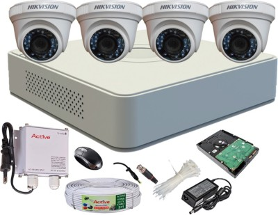Hikvision-DS-7104HGHI-F1-Mini-4CH-Dvr,-4(DS-2CE56COT-IR)-Dome-Camera-(with-Mouse,-500GB-HDD,-Bnc&Dc-Connectors,Power-Supply,Cable)