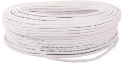 CP Plus 100% pure copper cctv cable 100% Pure Copper Coaxial Cable Wire Connector(White, Pack of 1)  available at flipkart for Rs.1630