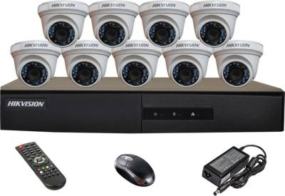Hikvision-DS-7216HGHI-E1-16CH-Dvr,-9(DS-2CE56COT-IR)-Dome-Cameras-(With-Mouse,Remote)