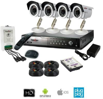 ROBORIX-4B-SD800WK-4-Channel-Dvr,-4(800-TVL)-Bullet-CCTV-Cameras-(With-Accessories)