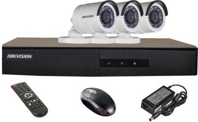 Hikvision-DS-7204HGHI-E1-4CH-Dvr,-3(DS-2CE16COT-IRP)-Bullet-Camera-(With-Mouse,Remote)