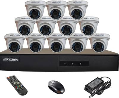 Hikvision-DS-7216HGHI-E1-16CH-Dvr,-12(DS-2CE56COT-IRP)-Dome-Cameras-(With-Mouse,-Remote)