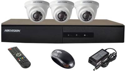 Hikvision-DS-7204HGHI-E1-4-CH-Dvr,-3(DS-2CE56COT-IR)-Dome-Camera-(with-Mouse,Remote)