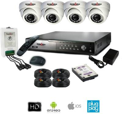 ROBORIX-4D-SD800WK-4-Channel-Dvr,-4(800-TVL)-Dome-CCTV-Cameras-(With-Accessories)
