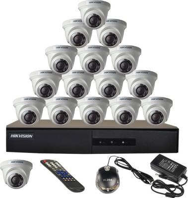 Hikvision-16CH-DS-7216HGHI-E1-Turbo-16-Channel-Dvr-16-Dome-CCTV-Cameras-(With-Mouse,-Remote,-Power-Adopter)