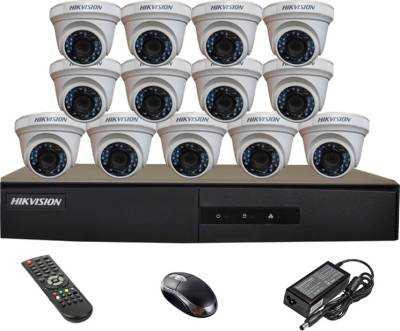 Hikvision-DS-7216HGHI-E1-16CH-Dvr-,-13(DS-2CE56COT-IR)-Dome-Cameras-(With-Mouse,-Remote)