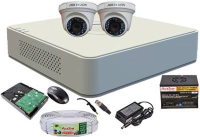 Hikvision-DS-7104HGHI-F1-Mini-4CH-Dvr,-2(DS-2CE56COT-IR)-Dome-Camera-(with-Mouse,-500GB-HDD,-Bnc&Dc-Connectors,Power-Supply,Cable)