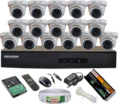 Hikvision-DS-7216HGHI-E1-16CH-Dvr,-16(DS-2CE56COT-IRP)-Dome-Cameras-(With-Mouse,-Remote,-2TB-HDD,-Bnc&Dc-Connectors,Power-Supply,Cable)
