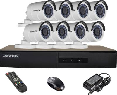 Hikvision-DS-7208HGHI-E1-8CH-Dvr,-8(DS-2CE16COT-IRP)-Bullet-Camera-(With-Mouse,Remote)