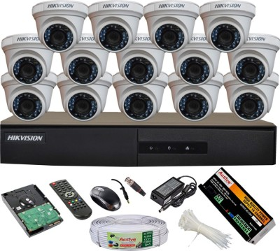 Hikvision-DS-7216HGHI-E1-16CH-Dvr-14(DS-2CE56COT-IR)-Dome-Cameras-(With-Mouse,-Remote,-2TB-HDD,-Bnc&Dc-Connectors,Power-Supply,Cable)