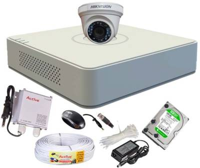Hikvision-DS-7104HGHI-E1-4-CH-Dvr-,-1(DS-2CE56C2T-IRB)-Dome-Camera-(With-Mouse,500GB-Hdd,Bnc-2pcs,-Dc-1pcs,Power-Supply,Cable)