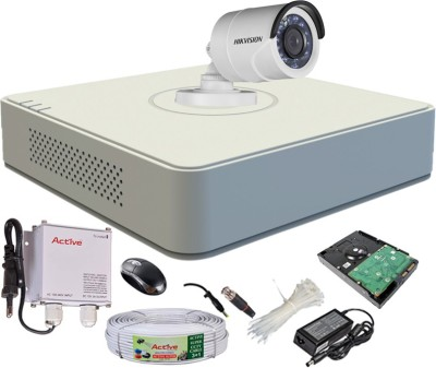 Hikvision-DS-7104HGHI-F1-Mini-4CH-Dvr,-1(DS-2CE16COT-IR)-Bullet-Camera-(With-Mouse,-500GB-HDD,-Bnc&Dc-Connectors,Power-Supply,Cable)