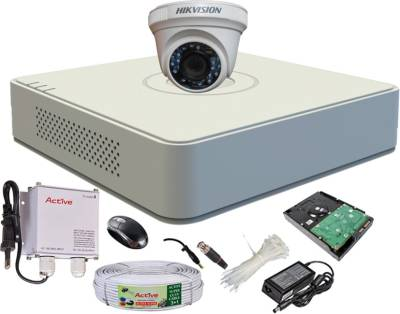 Hikvision-DS-7104HGHI-E1-4-CH-Turbo-Mini-Dvr-,-1(DS-2CE56C2T-IRB)-Dome-Camera-(With-500GB-H.D,Mouse,Power-Supply,BNC-&-DC-Connectors,Cable)