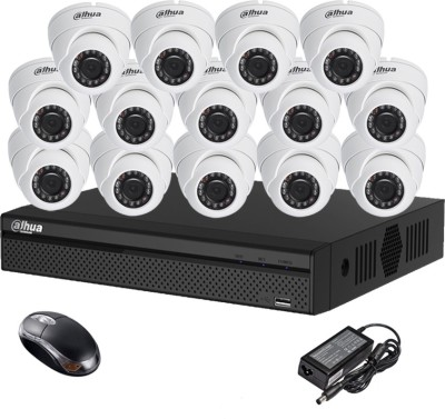 Dahua-DH-HCVR4116HS-S2-16CH-Dvr,-14(DH-HAC-HDW1000RP-0360B)-Dome-Camera-(With-Mouse)