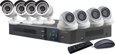 Blaze-BGD4B4-HD-8-Channel-Dvr-(With-4-Dome-&-4-Bullet-Camera,-Remote,-Mouse)