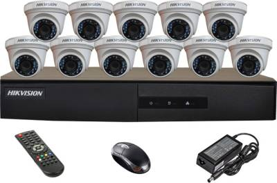 Hikvision-DS-7216HGHI-E1-16CH-Dvr,-11(DS-2CE56COT-IRP)-Dome-Cameras-(With-Mouse,Remote)
