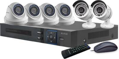 Blaze-BGD4B2-HD-8-Channel-Dvr-(With-4-Dome-&-2-Bullet-Camera,-Remote,-Mouse)