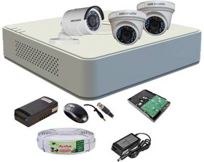 Hikvision-DS-7104HGHI-F1-Mini-4CH-Dvr,-2(DS-2CE56COT-IR)-Dome,-1(DS-2CE16COT-IR)-Bullet-Camera-(With-Mouse,-500GB-HDD,-Bnc&Dc-Connectors,Power-Supply,Cable)