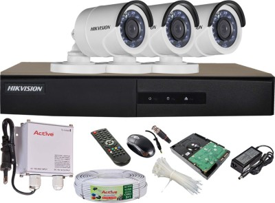 Hikvision-DS-7204HGHI-E1-4CH-Dvr,-3(DS-2CE16COT-IRP)-Bullet-Cameras-(With-Mouse,-Remote,-500GB-HDD,Cable,-Bnc&Dc-Connectors,Power-Supply)
