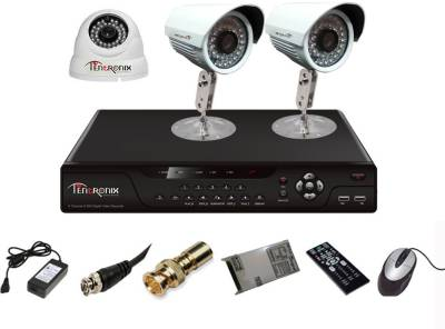 Tentronix-T-4AVR-3-B2D13-4-Channel-AHD-Dvr,-1(1.3MP)-Dome,-2(1.3MP)-Bullet-Cameras