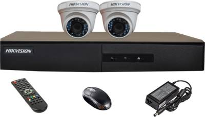 Hikvision-DS-7204HGHI-E1-4CH-Dvr,-2(DS-2CE56COT-IRP)-Dome-Cameras-(with-Mouse,Remote)
