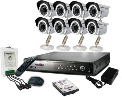 ROBORIX-8B-HD2K-8-Channel-Dvr,-8(2-MP)-Bullet-CCTV-Cameras-(With-Accessories)