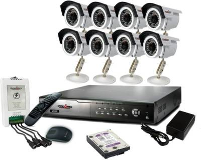 ROBORIX-8B-HD1K-8-Channel-Dvr,-8(720P)-Bullet-CCTV-Cameras-(With-Accessories)
