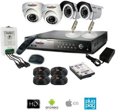 ROBORIX-2B2D-HD2WK-4-Channel-Dvr,-2(2-MP)-Bullet,-2(2-MP)-Dome-CCTV-Cameras-(With-Accessories)