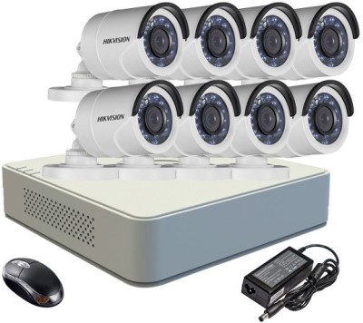 Hikvision-DS-7108HGHI-E1-8CH-Dvr-,-8(DS-2CE16C2T-IR)-Bullet-Cameras-(With-Adapter-&-Mouse)