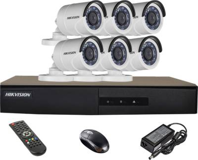 Hikvision-DS-7208HGHI-E1-8CH-Dvr-,-6(DS-2CE16C2T-IRP)-Bullet-Cameras-(with-Mouse,Remote,Adapter)