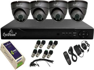Optivision-OV-4704-1488-4DLX-4Channel-DVR-+4-(650TVL)-IR-Dome-CCTV-Cameras-(With-Mouse,Remote,1-Power-Supply,BNC,DC-Connector)