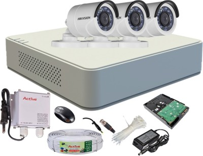 Hikvision-DS-7104HGHI-F1-Mini-4CH-Dvr,-3(DS-2CE16COT-IR)-Bullet-Cameras-(With-Mouse,-500GB-HDD,-Bnc&Dc-Connectors,Power-Supply,Cable)