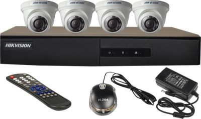 Hikvision-4CH-DS-7204HGHI-E1-Turbo-4-Channel-Dvr-4-Dome-CCTV-Cameras-(With-Mouse,-Remote,-Power-Adopter)