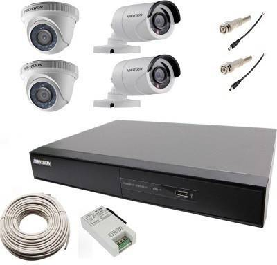 Hikvision-DS-7204HGHI-SH-4CH-Dvr,-2(DS-2CE56C0T-IR)-Dome,-2(DS-2CE16C0T-IRP)-Bullet-Cameras-(With-Power-supply,Cable,-Dc&Bnc-Connectors)