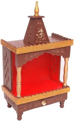Wood Beauty Wooden Home Temple(Height: 60 cm)