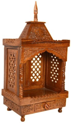 Simran Handicrafts Solid Wood Home Temple(Height: 53.34 cm) at flipkart