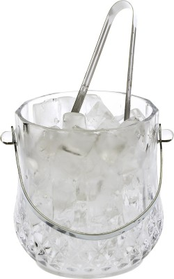 Bloom Clear Glass New Design Ice Bucket With Handle & Tongs -A01 Glass Ice Bucket(Clear 1.05 L) at flipkart