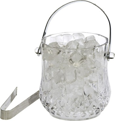 Somil Clear Glass New Design Ice Bucket With Handle & Tongs -A01 Glass Ice Bucket(Clear 1.05 L) at flipkart