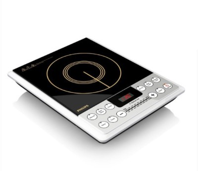 Philips HD 4929/01 2100 Watt Induction Cooktop, Silver & Black