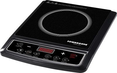 Sowbaghya Sleek Plus (With Pot) Induction Cooktop(Black, Push Button) at flipkart